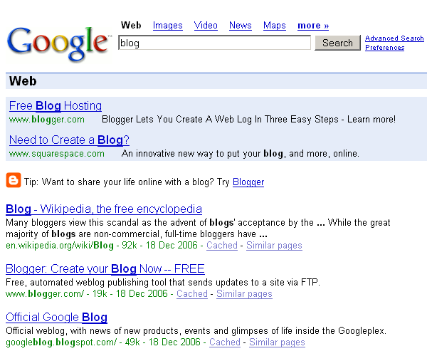 google blog. Google search with Blogger